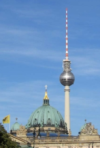 The Berlin Cathedral and Television Tower