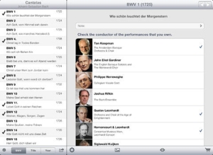 Bach Cantatas for the iPad