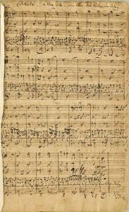 The autograph score of BWV 199.