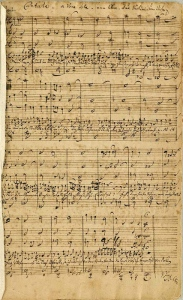 The autograph score of BWV 199.