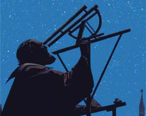 Galileo at his telescope