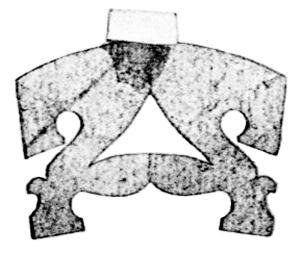 Stradivari's pattern for a viola d'amore bridge
