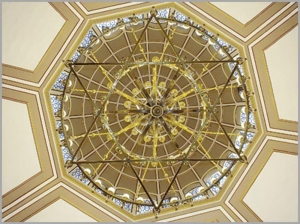 The dome of Neve Shalom Synagogue